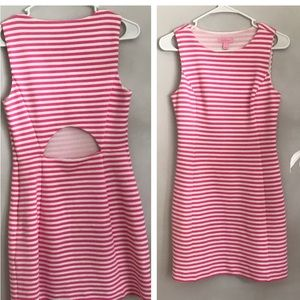 Lilly Pulitzer pink white striped dress size 4